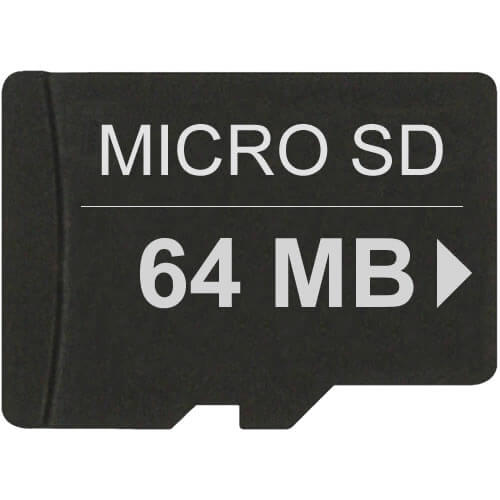 64mb microsd secure digital transflash card. Black Bedroom Furniture Sets. Home Design Ideas