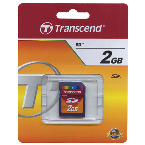 Transcend TS2GSDC BXQ 2GB SD Secure Digital Card 45x Retail