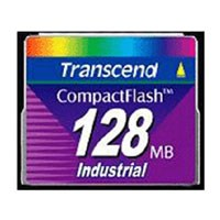 Transcend TS128MCF45I DHB 128MB CompactFlash Card 45x Industrial Grade Clam