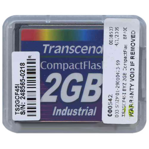 Transcend TS2GCF45I 2GB 50p CompactFlash Card 45x Industrial Grade Clam