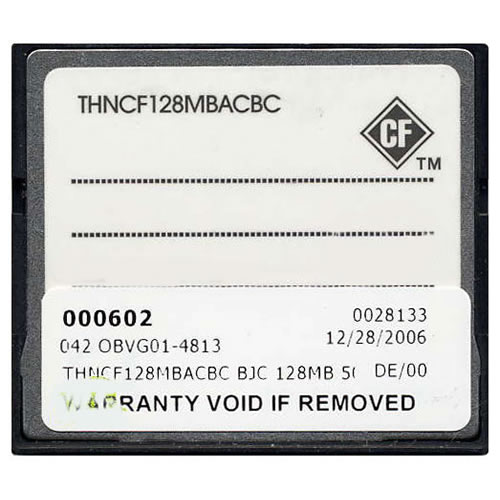 Cisco THNCF128MBACBC 128MB 50p CompactFlash Card Cisco Original Labeled