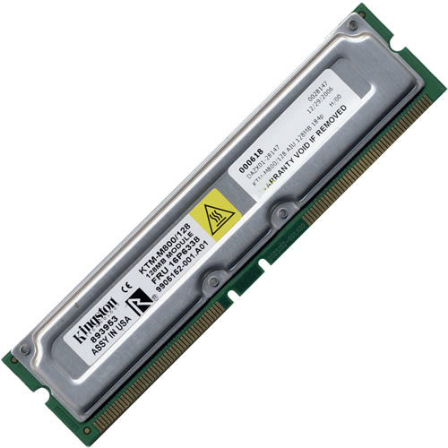 Kingston KTM-M800/128 128MB 184p PC800-45 8d nonECC RDRAM DIMM T003