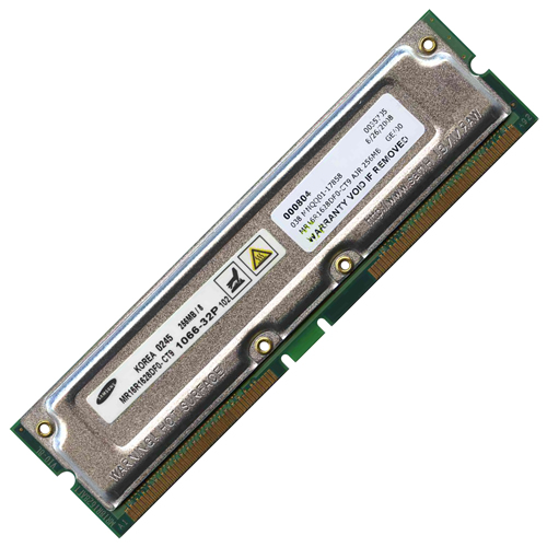 Samsung MR16R1628DF0-CT9 AJR 256MB 184p PC1066-32 8d nonECC RDRAM RIMM