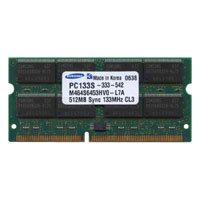 512MB 144p PC133 CL3 16c 32x8 SDRAM SODIMM