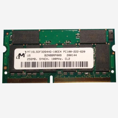 AVA 256MB 144p PC100 CL2 16c 16x8 SDRAM SODIMM T017 RFB