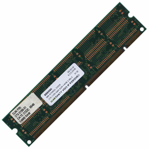 Sun Micro 370-3199-SAM 64MB 168p 60ns 9c 8x8 4K Buffered ECC EDO DIMM
