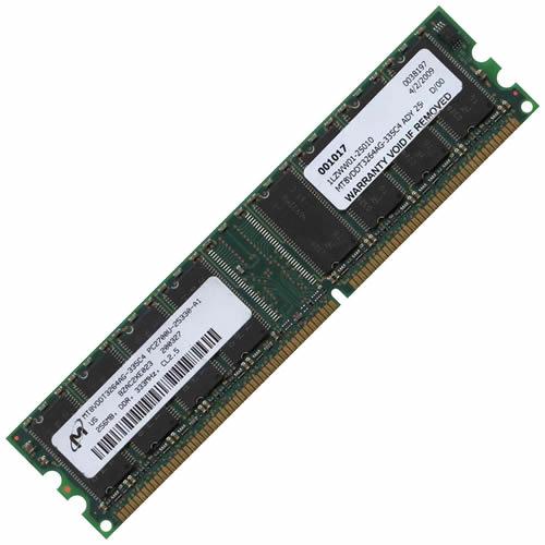 Micron MT8VDDT3264AG-335C4 ADY 256MB 184p PC2700 CL2.5 8c...