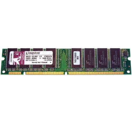 256MB 168p PC133 CL3 8c 32x8 SDRAM DIMM T018-RFB