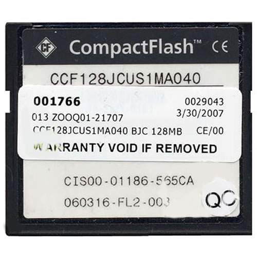Cisco CCF128JCUS1MA040 128MB 50p CompactFlash Card Cisco Original Labeled