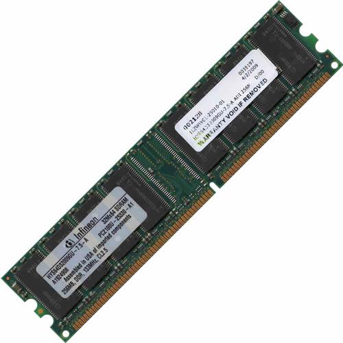 Infineon HYS64D32009GU-7.5-A ADI 256MB 184p PC2100 CL2.5 ...