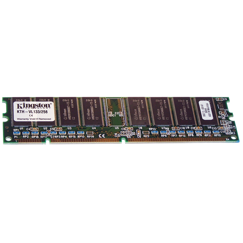 Kingston KTH-VL133/256 256MB 168p PC133 CL3 8c 32x8 SDRAM DIMM T018 RFB