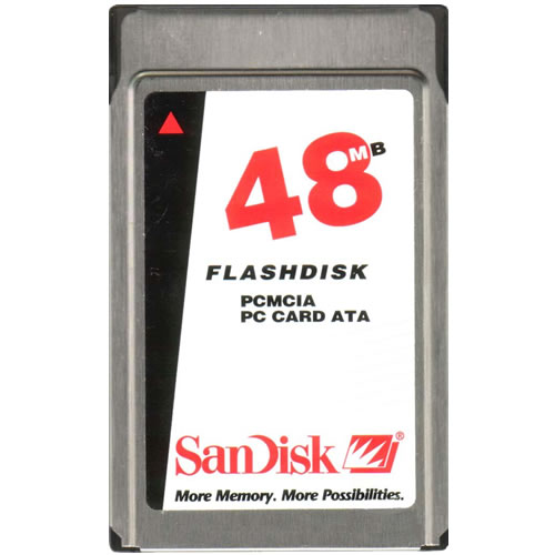 SanDisk SDP3B-48-584 CGJ 48MB PCMCIA ATA Flash Card