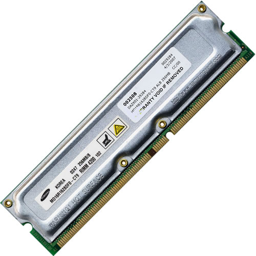 Samsung MD18R1628DF0-CT9 256MB 232p PC1066 8d ECC RDRAM RIMM