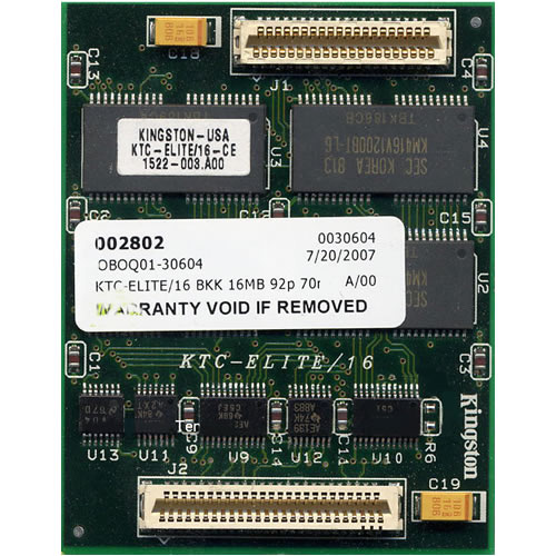 Kingston KTC-ELITE/16 16MB 92p 70ns 8c 1x16 FPM Module Compact Elite