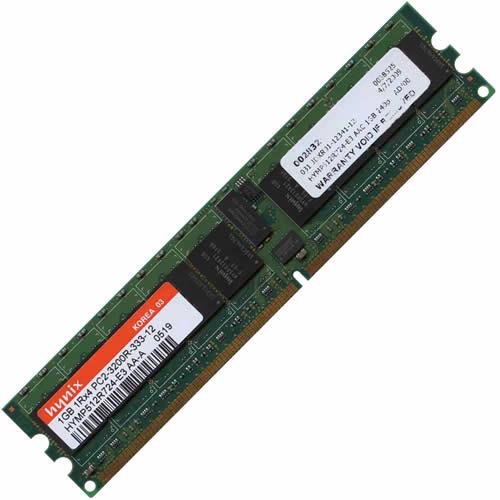 1GB 240p PC2-3200 CL3 18c 128x4 DDR2-400 1Rx4 1.8V ECC RDIMM