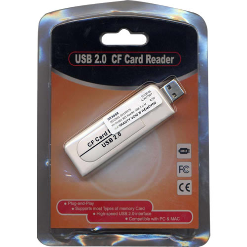 0MB USB 2.0 to CompactFlash Reader Retail