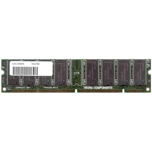 Major/3rd 128U8S168-8-RFB 128MB 168p PC100 CL2 8c 16x8 SDRAM DIMM T016