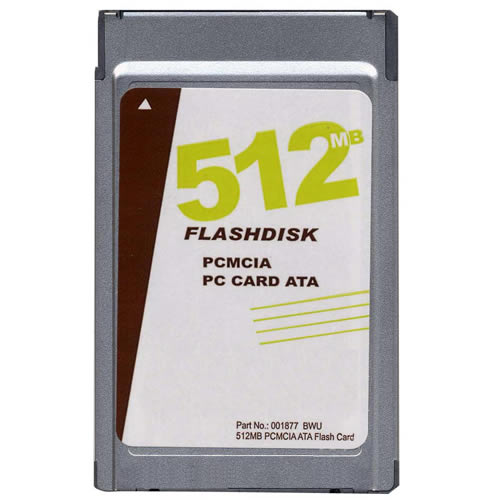 OEM 001877 BWU 512MB 68p PCMCIA ATA Flash Card w/ Logo Bulk