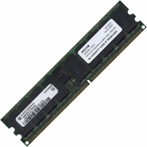 Qimonda HYS72T512022HR-5-A 4GB 240p PC2-3200 CL3 18c 2x256x4 DDR2-400 2Rx4 1.8V ECC RDIMM