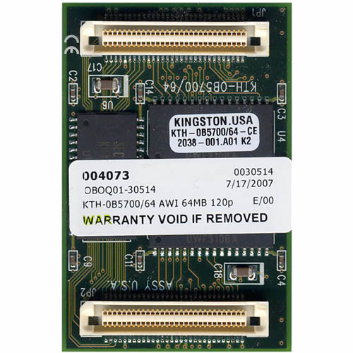 Kingston KTH-0B5700/64 64MB 120p 60ns 8c 8x8 FPM Module HP5700, Samsung SENS810