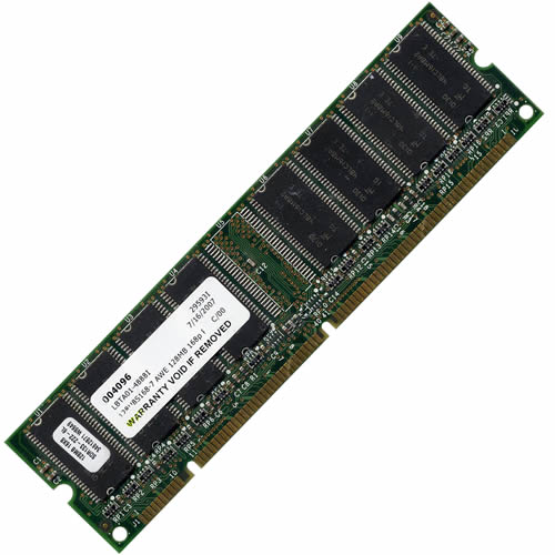 Major/3rd MT128U8S168-7-TPXX AWE 128MB 168p PC133 CL2 8c 16x8 SDRAM DIMM