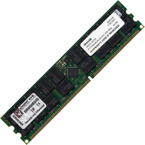 Kingston KVR400D4R3A/2G AFZ 2GB 184p PC3200 CL3 36c 128x4 DDR400 2Rx4 2.5V ECC RDIMM
