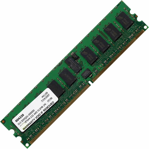 Mixed MT512X18T644-40ZPXX AAD 512MB 240p PC2-3200 CL3 18c 64x4 DDR2-400 1Rx4 1.8v ECC RDIMM RFB