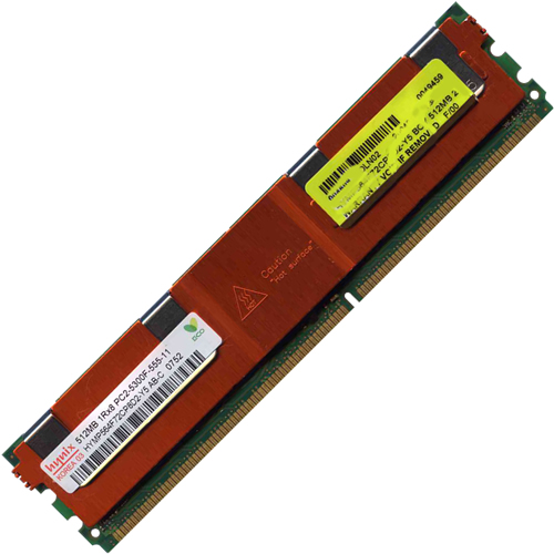 Hynix HYMP564F72CP8D2-Y5 BOY 512MB 240p PC2-5300 CL5 9c 64x8 Fully Buffered ECC DDR2-667 FBDIMM