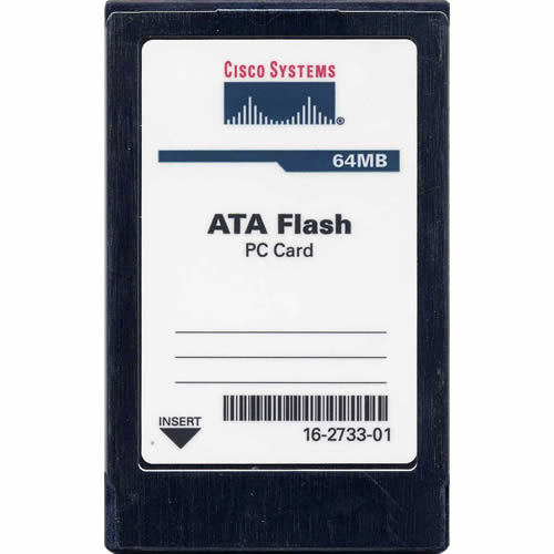 Cisco CIS00-01199-501CA 64MB 68p PCMCIA ATA Flash Card Cisco Original with Logo