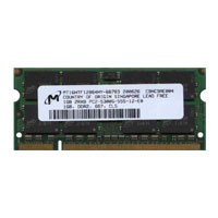 Micron MT16HTF12864HY-667D3 1GB 200p PC2-5300 CL5 16c 64x8 DDR2-667 SODIMM Apple MacBook Pro RFB