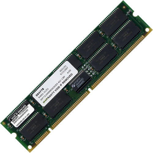 Hitachi SM572164098E6G5OE0 AGJ 128MB 168p 60ns 18c 16x4 8K Buffered ECC EDO DIMM