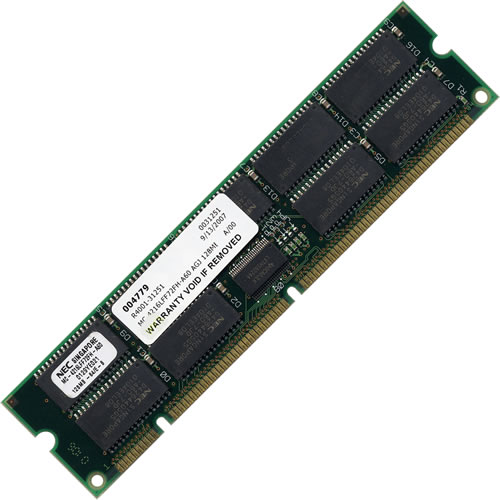 Gigaram MC-4216LFF72FH-A60 128MB 168p 60ns 18c 16x4 8K Buffered ECC EDO DIMM