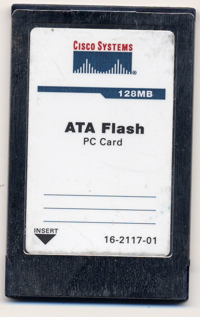 Cisco VK128ABMS531-CS01 128MB 68p PCMCIA ATA Flash Card Cisco Original with Logo