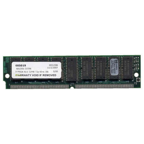 HP D4892A 32MB 72p 60ns 18c 4x4 2K Parity FPM SIMM
