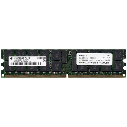 Qimonda HYS72T256220HR-3.7-B 2GB 240p PC2-4200 CL4 36c 128x4 DDR2-533 2Rx4 1.8V ECC RDIMM