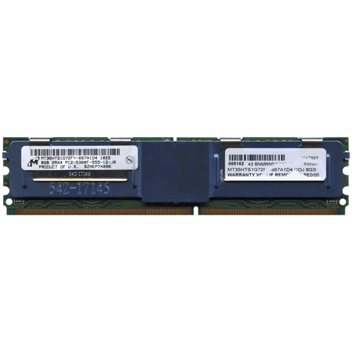 8GB 240p PC2-5300 CL5 18c 2x512x4 DDR2-667 2Rx4 1.8V ECC FBDIMM RFB