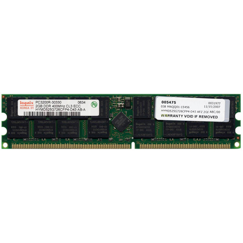 Hynix HYMD525G726CFP4-D43 2GB 184p PC3200 CL3 36c 128x4 D...