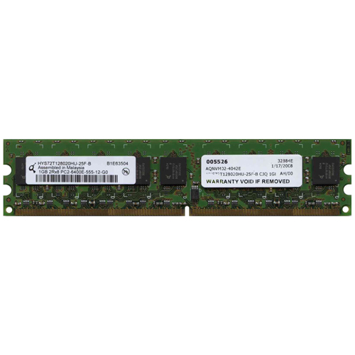 Qimonda HYS72T128020HU-25F-B 1GB 240p PC2-6400 CL5 18c 64x8 ECC DDR2-800 DIMM