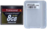 Transcend TS8GCF100I CCF 8GB 50p CF 100x Industrial Grade Compact Flash Card Clam