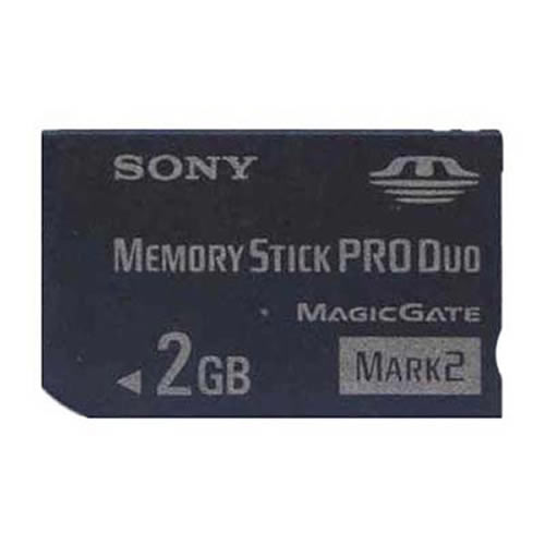 Sony MS-MT2G CPW 2GB 10p Memory Stick Pro Duo Mark2 w/o Adapter RFB
