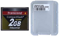 Transcend TS2GCF100I 2GB 50p CompactFlash Card 100x Industrial Grade Clam