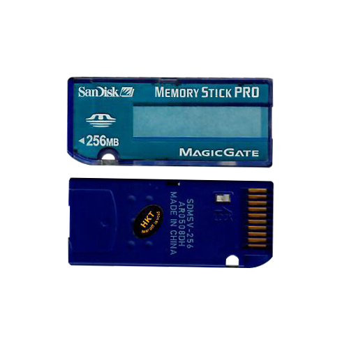 SanDisk SDMSV-256 256MB Memory Stick Pro Teal Blue Color in Bulk RFB