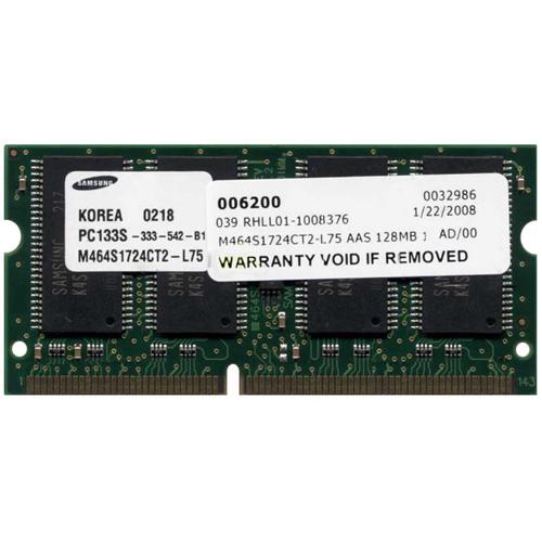 128MB 144p PC133 CL3 8c 8x16 SDRAM SODIMM T017