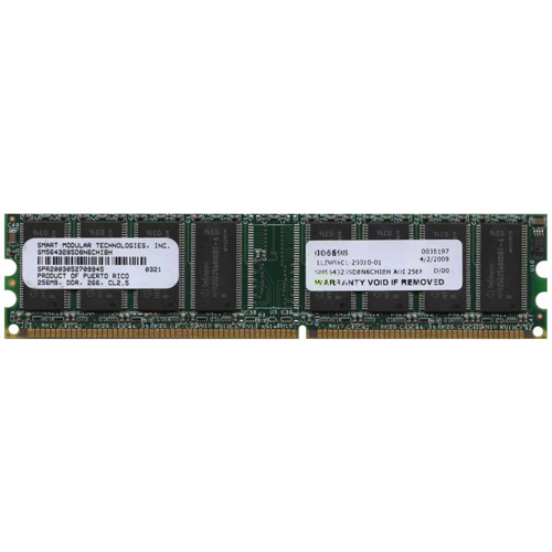 Smart Modular SM5643285D8N6CHIBH ADI 256MB 184p PC2100 CL2.5 8c 32x8 DDR DIMM T001-RFB Puerto Rico