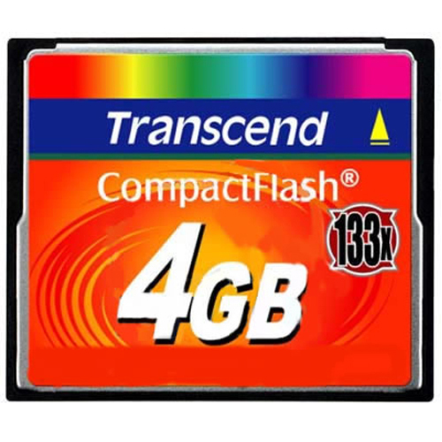 Transcend TS4GCF133 4GB 50p CF CompactFlash Card 50 MB/s 133X Retail