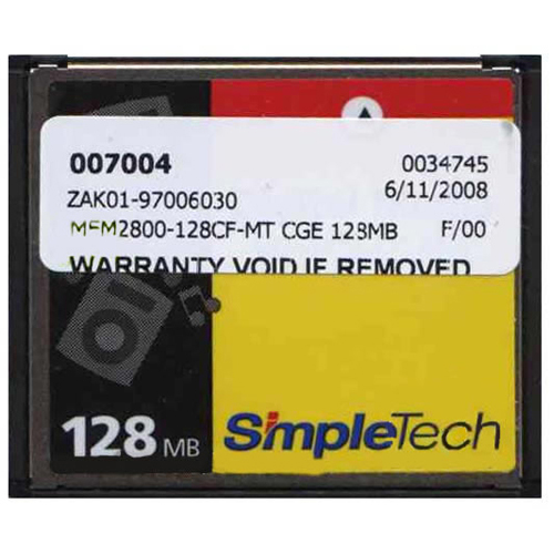 SanDisk MEM1800-128CF-MT 128MB CompactFlash Card Cisco 3rd Party