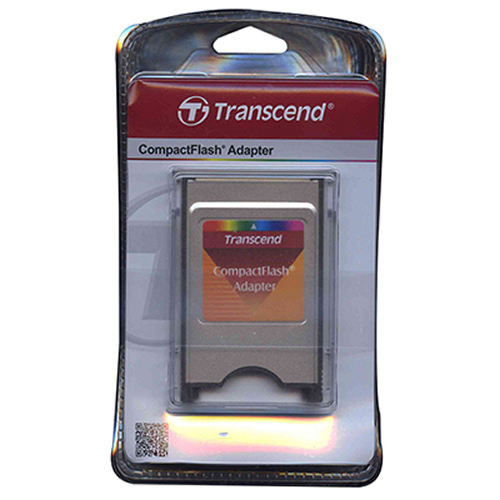 Transcend TS0MCF2PC 0MB PCMCIA (Type II) to CompactFlash (Type I) Adapter Retail