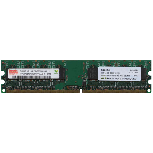 512MB 240p PC2-5300 CL5 8c 64x8 DDR2-667 DIMM T007 RFB