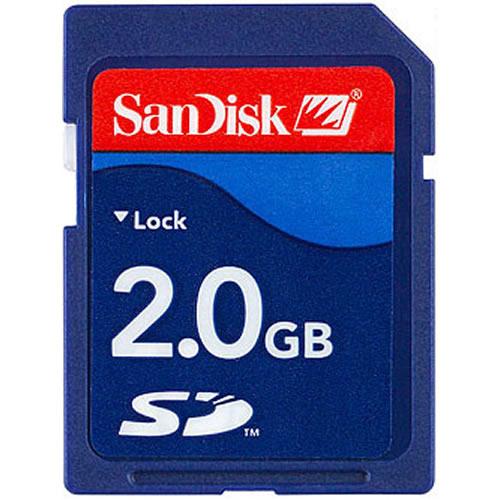 2GB SD r21MB/s w9MB/s Secure Digital Card Bulk RFB
