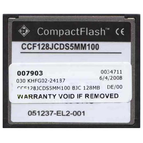 Cisco CCF128JCDS5MM100 128MB 50p CompactFlash Card Cisco Original Labeled
